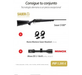 CONJUNTO SAUER S100 + MONTURAS + MINOX